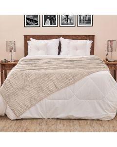 Cobertor Solteiro 1,60x2,20m Canelado - Cru