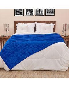 Cobertor Solteiro 1,60x2,20m Canelado - Indigo