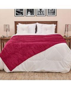 Cobertor Solteiro 1,60x2,20m Canelado - Fucsia