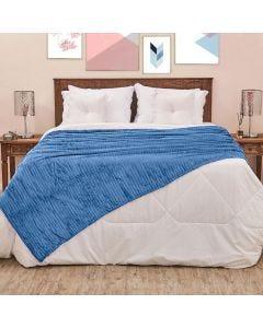 Cobertor Solteiro 1,60x2,20m Canelado - Indigo Blue