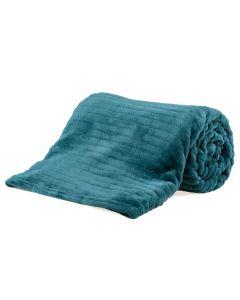 Cobertor Solteiro 1,60X2,20M Canelado - Verde