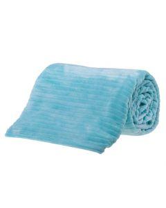 Cobertor Solteiro 1,60X2,20M Canelado - Turquesa Acqua