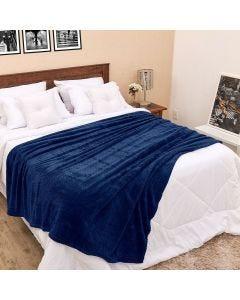 Cobertor Solteiro 1,60x2,20m Dobby - Marinho