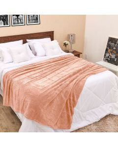 Cobertor Solteiro 1,60x2,20m Dobby - Rose