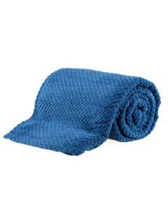 Cobertor Solteiro 1,60X2,20M Dobby - Indigo