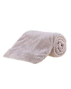 Cobertor Solteiro 1,60X2,20M Dobby - Cru