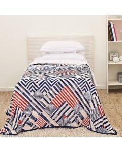 Cobertor Solteiro Aveludado Importado Yaris - Memphis Marinho
