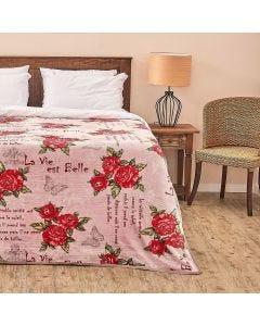 Cobertor Solteiro Aveludado Importado Yaris - Paris Rose