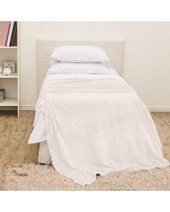 Cobertor Solteiro Flannel Microfibra Yaris - Off White