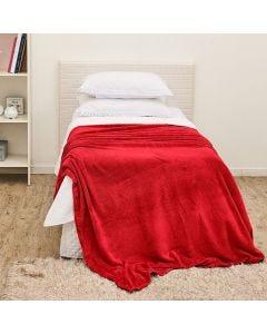 Cobertor Solteiro Flannel Microfibra Yaris - Vermelho
