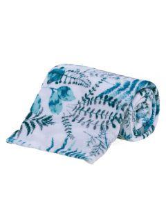 Cobertor Solteiro Microfibra Estampado Yaris - Botanico Folhas Verde