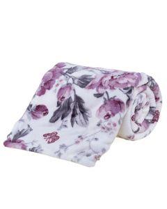 Cobertor Solteiro Microfibra Estampado Yaris - Noblesse Rose