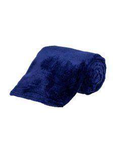 Cobertor Solteiro Microfibra Yaris - Marinho