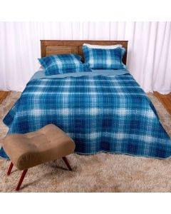 Cobre-Leito Casal 3 peças 150 Fios Solecasa - Midnight Azul