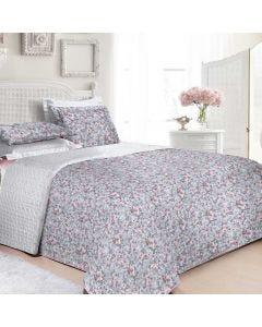 Cobre Leito Queen 3 Peças 160 Fios Matelassê - Decor Flores Rosas