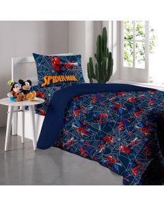Cobre Leito Solteiro Homem Aranha Disney Havan - Azul