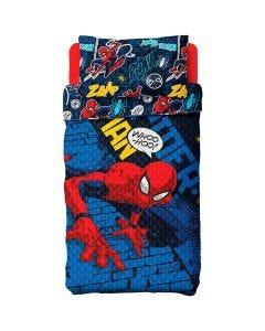 Colcha Bouti Homem-Aranha 1,60x2,20m Lepper - Quadrinhos