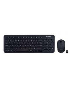 Combo Teclado e Mouse sem Fio USB Multilaser - Preto