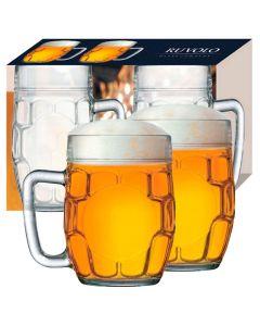Conjunto Caneca Cerveja 2 Peças Hoppen 610Ml - Vidro