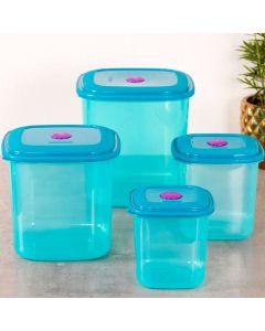 Conjunto de 04 Potes Sanremo - Azul