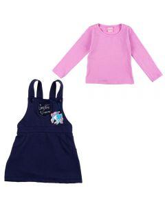 Conjunto de 1 a 3 Anos Blusa e Salopete Infantil Yoyo Kids