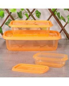 Conjunto de 3 Potes Sanremo - Papaya