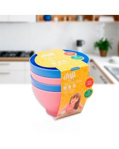 Conjunto de 4 Tigelas 300ml Play Kids Dup - Colors