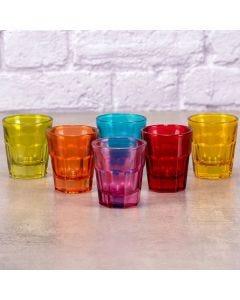 Conjunto de 6 Copos Coloridos 30ml Lyor - Colors