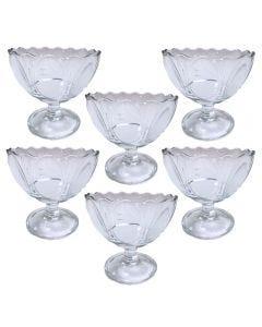Conjunto de 6 Taças de Sobremesa Almonds Pasabahçe - Vidro