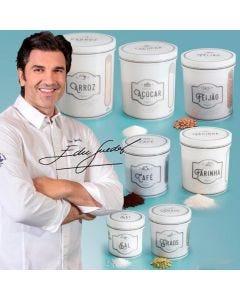 Conjunto de 7 Potes Edu Guedes Plasútil - Branco