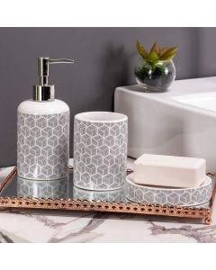 Conjunto de Banheiro 3 Peças em Cerâmica Yaris - Branco
