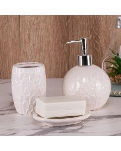 Conjunto de Banheiro 3 Peças Finecasa - Branco