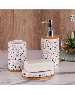 Conjunto de Banheiro 3 Peças Geométrico Finecasa - Branco
