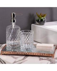 Conjunto de Banheiro 3 Peças Litt Rojemac - Vidro