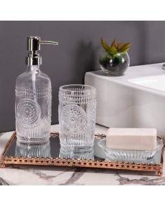 Conjunto de Banheiro 3 Peças Lux Cromado Rojemac - Vidro