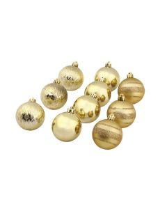 Conjunto de Bolas 6cm com 10 Peças Douradas Havan - Dourado
