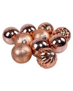 Conjunto de Bolas 6cm Com 10 Peças Havan - Rose Gold