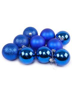 Conjunto de Bolas Azul com 10 peças Havan - 6 cm