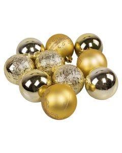 Conjunto de Bolas com 10 Peças Douradas Havan - 6 cm