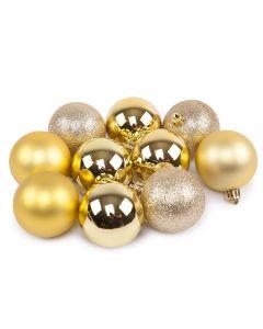 Conjunto de Bolas Douradas 10 peças Havan - 6 cm