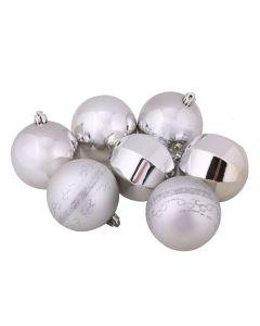 Conjunto de Bolas Prateadas com 7 Peças Havan - 8 cm