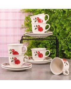 Conjunto de Chá Bella 12 Peças Biona - Ceramica