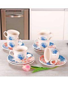 Conjunto de Chá Bloom 12 Peças Biona - Ceramica