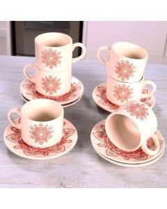 Conjunto de Chá Rendas 12 Peças Oxford - Ceramica