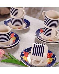 Conjunto de Chá Rose 12 peças Biona - Ceramica
