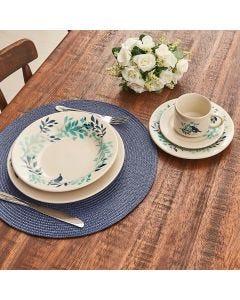 Conjunto de Jantar Blue Bird 20 Peças Donna - Azul