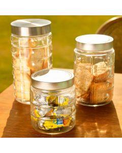 Conjunto de Potes 3 Peças Euro Home - Vidro