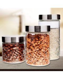 Conjunto de Potes 3 peças Frutas Euro Home - Vidro