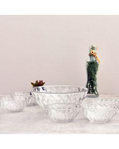 Conjunto de Sobremesa 7 peças Diamante - Vidro