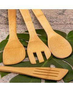 Conjunto de Utensílios 4 Peças Finecasa - Bambu